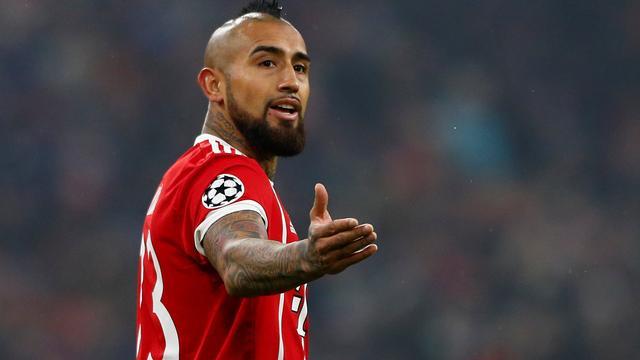 Vidal voorlopig niet in actie bij Bayern München door knieoperatie