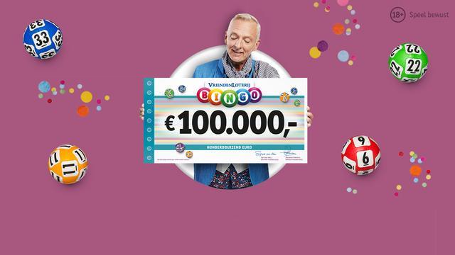 Ontvang gratis Bingokaarten bij de VriendenLoterij met elk kans op 100.000 euro