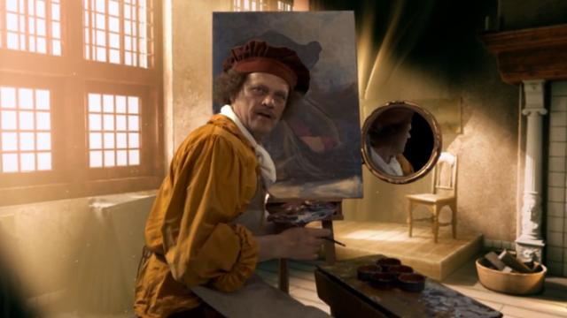 Zie Rembrandt De Nachtwacht schilderen in virtual reality