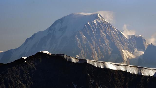 Mont Blanc is in twee jaar 1,30 meter gekrompen