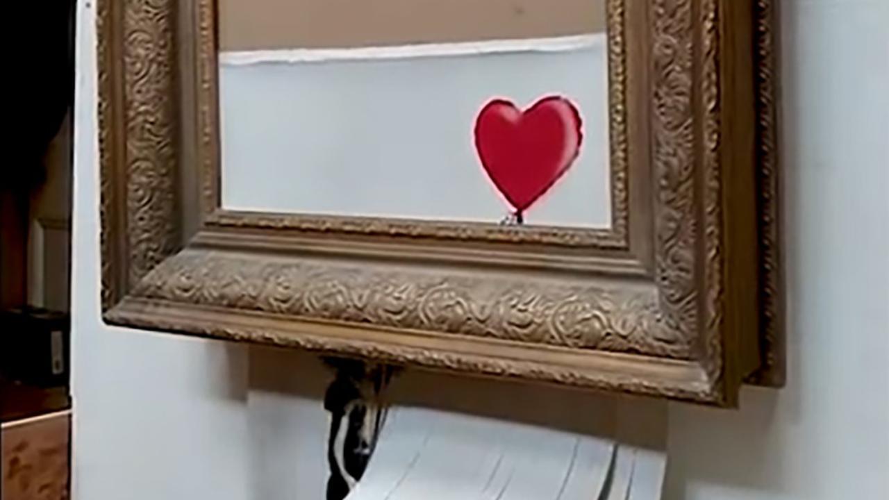 Banksy toont hoe kunstwerk volledig versnipperen mislukte