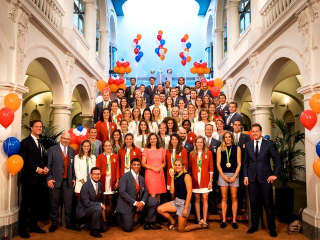 Nederlandse medaillewinnaars gehuldigd in Den Haag