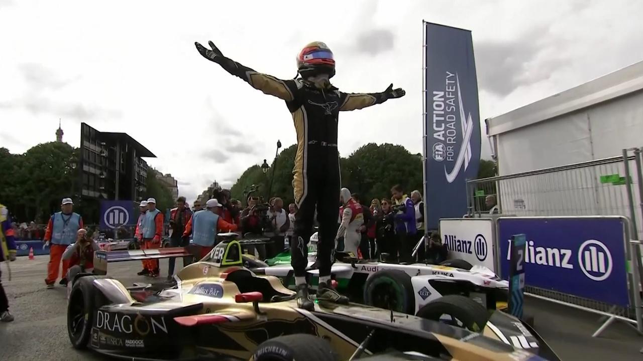 Fransman Vergne schrijft Formula E-race in Parijs op zijn naam