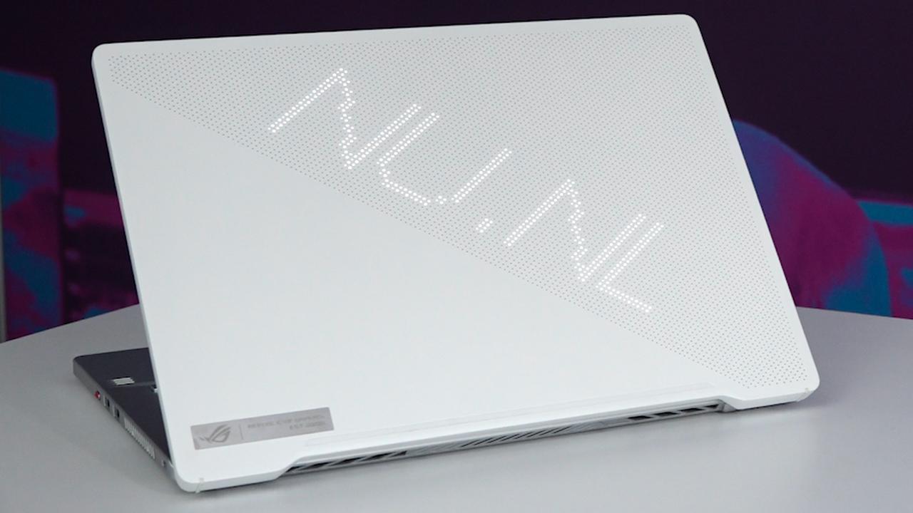 Zo ziet het ledpaneel op de nieuwste Asus-laptop eruit