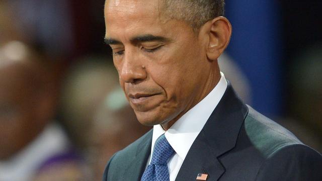Obama zingt Amazing Grace op begrafenis Charleston