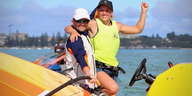 Windsurfster De Geus voor tweede keer wereldkampioene in RS:X-klasse