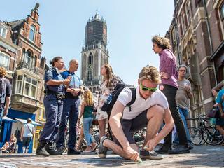 SP protesteerde met succes tegen stoepkrijtverbod in Utrecht