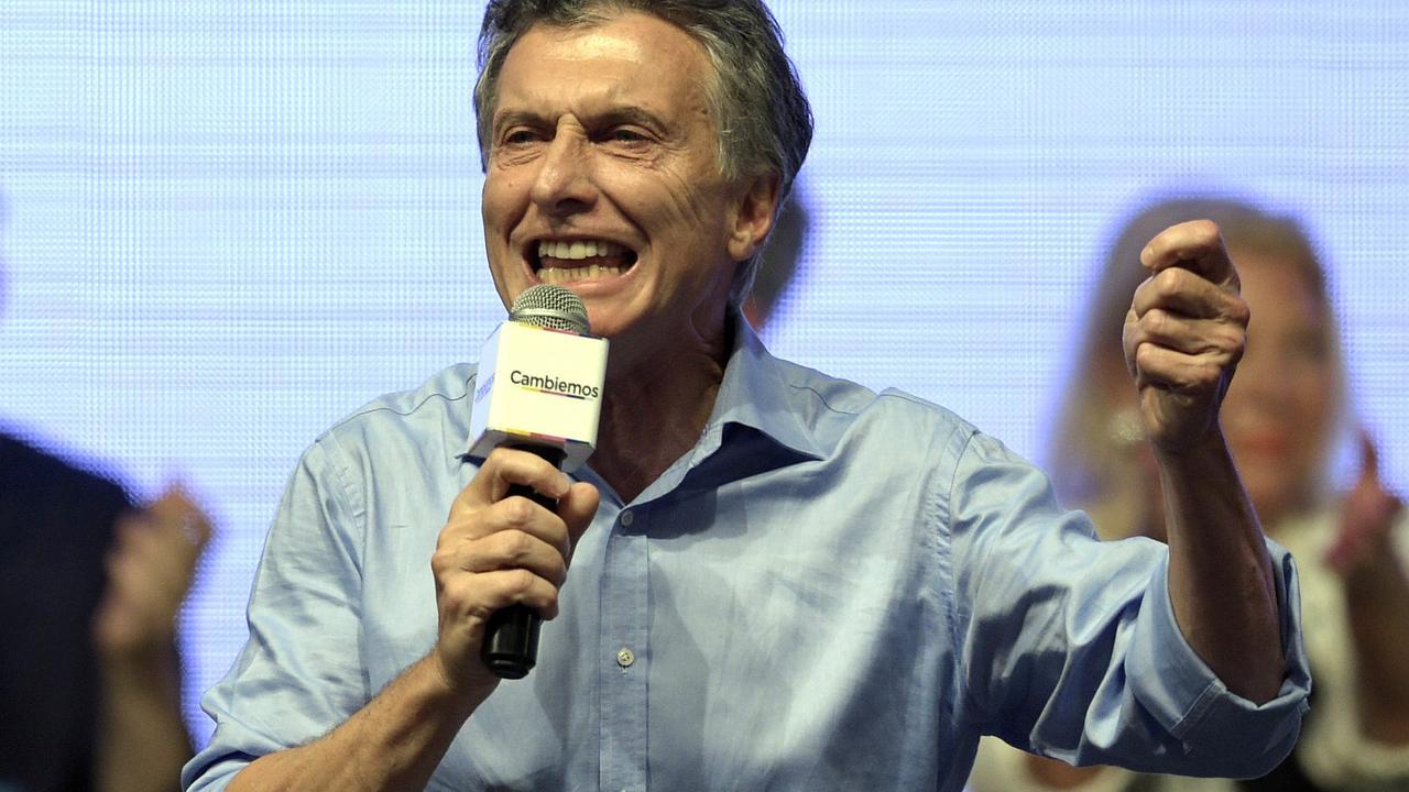 Mauricio Macri gekozen als nieuwe president Argentinië