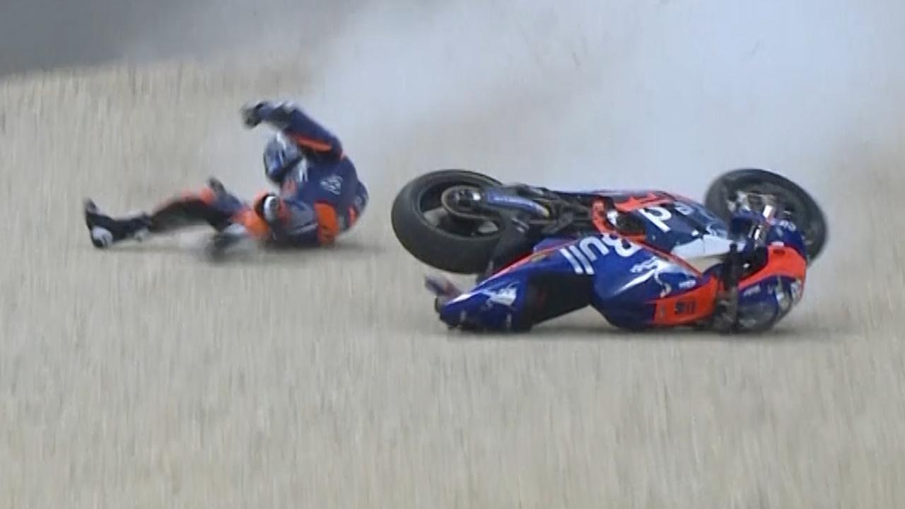 Miguel Oliviera gaat onderuit tijdens kwalificatie MotoGP in Australië