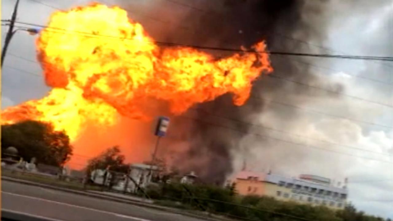 Enorme brand woedt in elektriciteitscentrale Moskou
