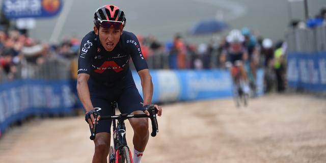 Bernal slaat dubbelslag in bergrit Giro, vluchter Bouwman komt net tekort