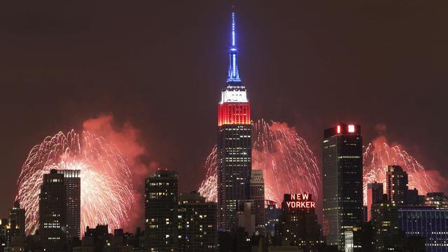 New York viert Onafhankelijkheidsdag met grote vuurwerkshow