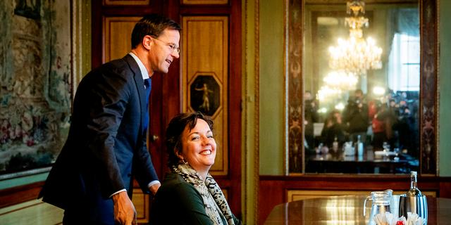 Nieuwe kandidaat-bewindslieden komen op gesprek bij Rutte