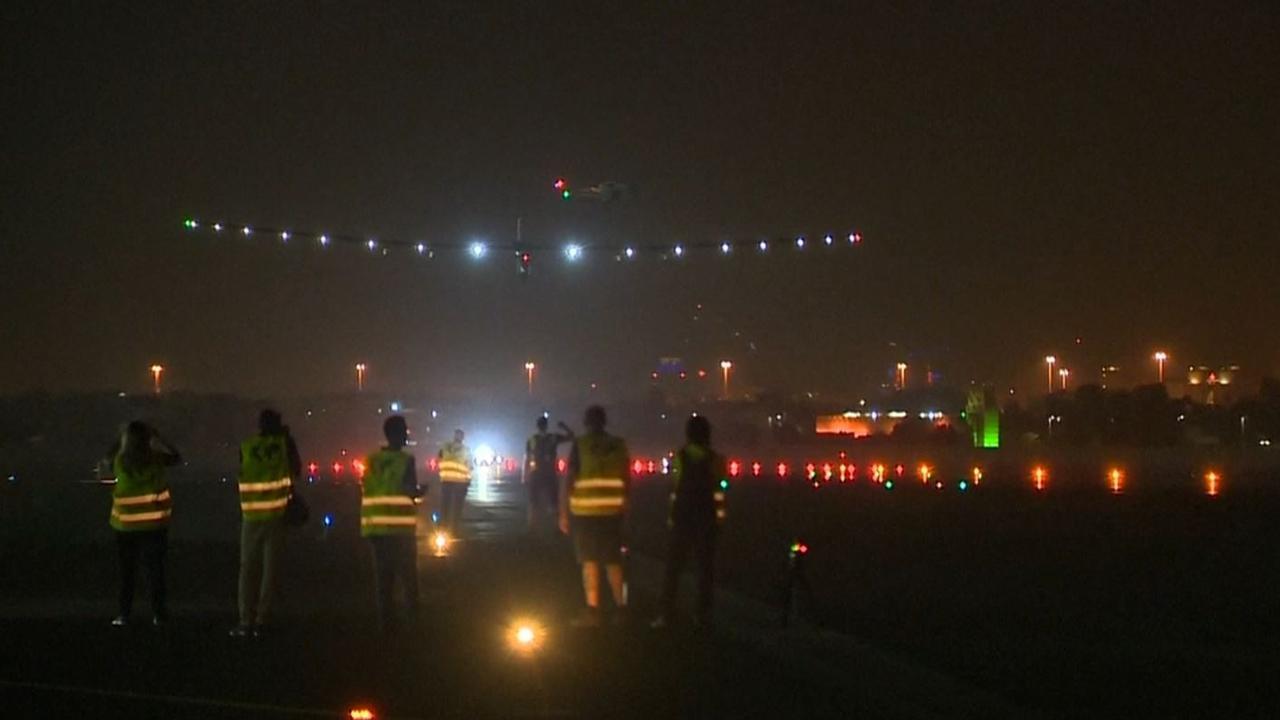 Solar Impulse 2 terug van reis om de wereld