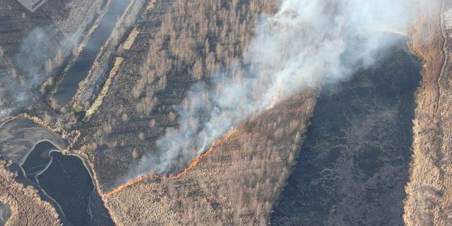 Brandweer krijgt brand Deurnese Peel niet onder controle