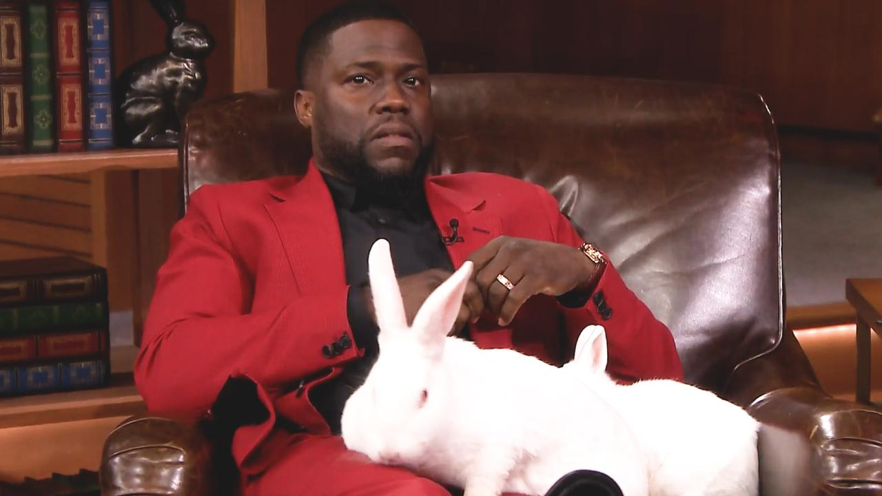 Kevin Hart is doodsbang voor konijnen tijdens quiz