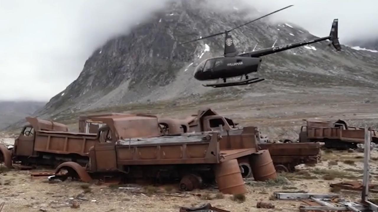 Hoe geheime legerbasis VS zichtbaar wordt onder gesmolten ijslaag