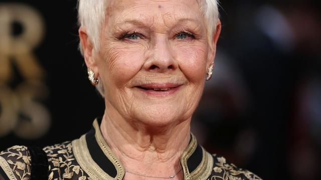 Actrice Judi Dench veilt aquarel