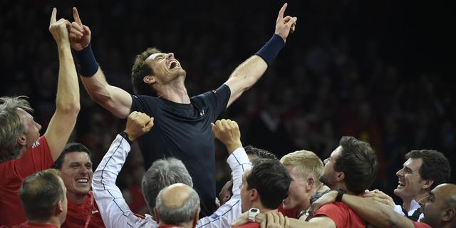 Groot-Brittannië wint Davis Cup dankzij zege Murray