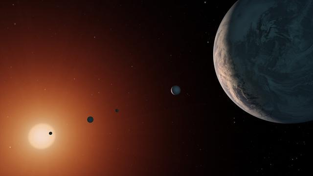Blik op de ruimte: Klimaat in TRAPPIST en groeven op Mars-maan