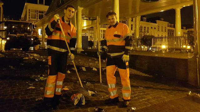 Stad weer schoon door nachtwerk Stedelijk Beheer