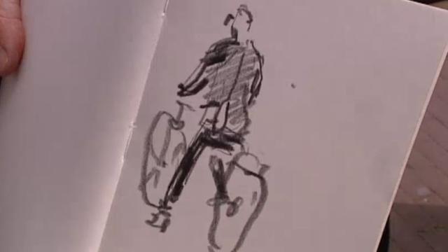 Stadstekenaar tekent graag mannen met dikke buiken