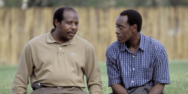België helpt zieke protagonist uit de film Hotel Rwanda