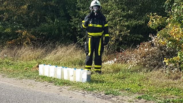 Vermoedelijke drugsdumping aangetroffen in omgeving Hoeven