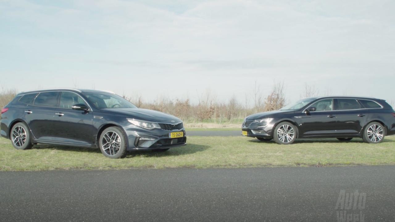 Eerste dubbeltest: Kia Optima tegen de Renault Talisman