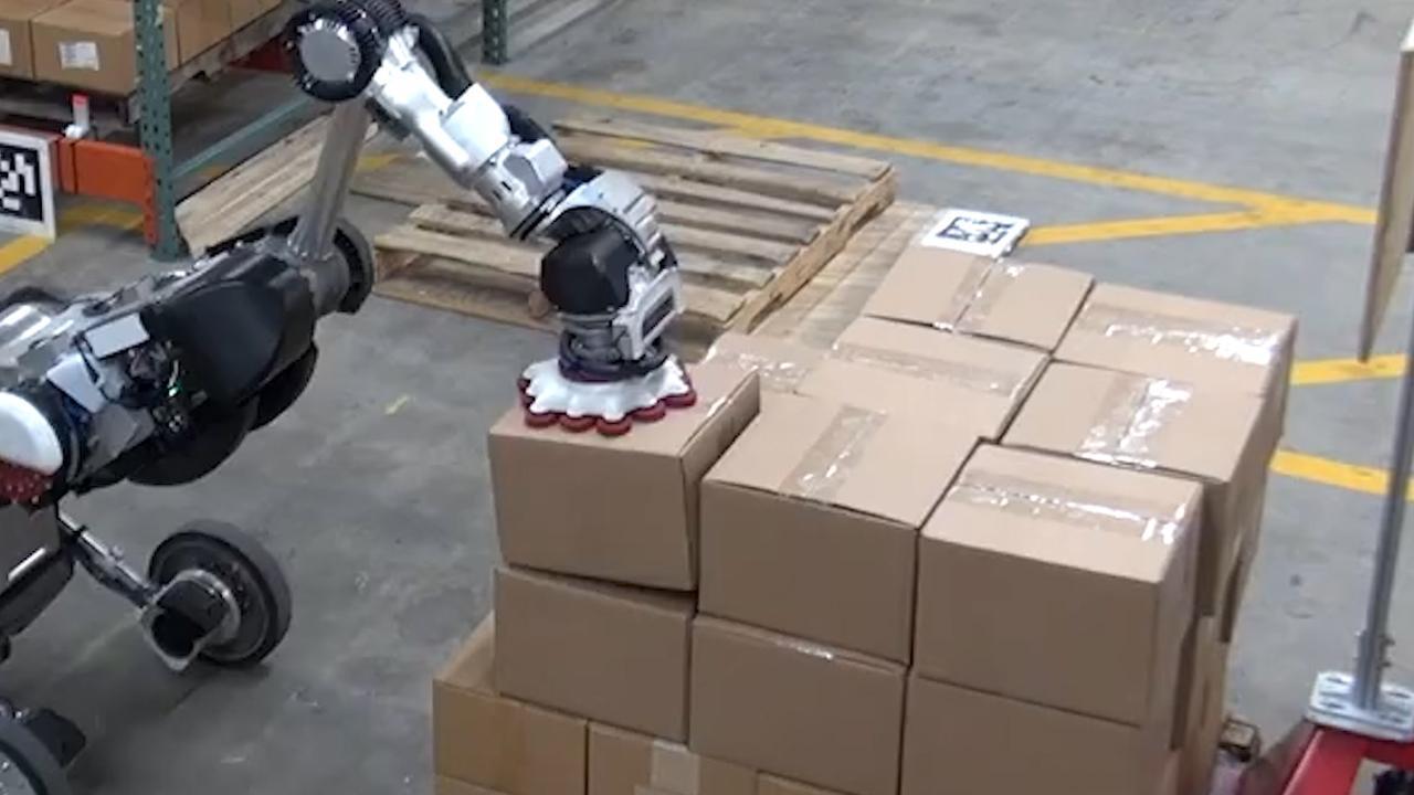 Slimme robot kan autonoom perfect pakketten stapelen
