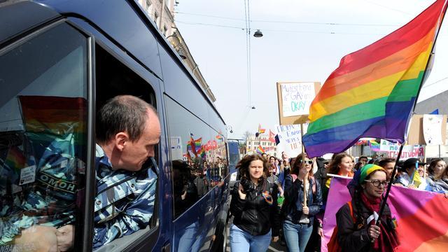 Betogers gearresteerd bij Russiche demonstratie voor homorechten