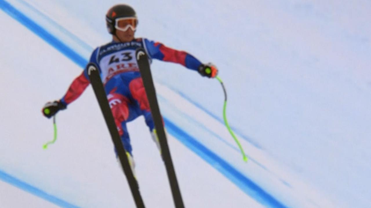 Chileen schreeuwt het uit na harde val op WK skiën