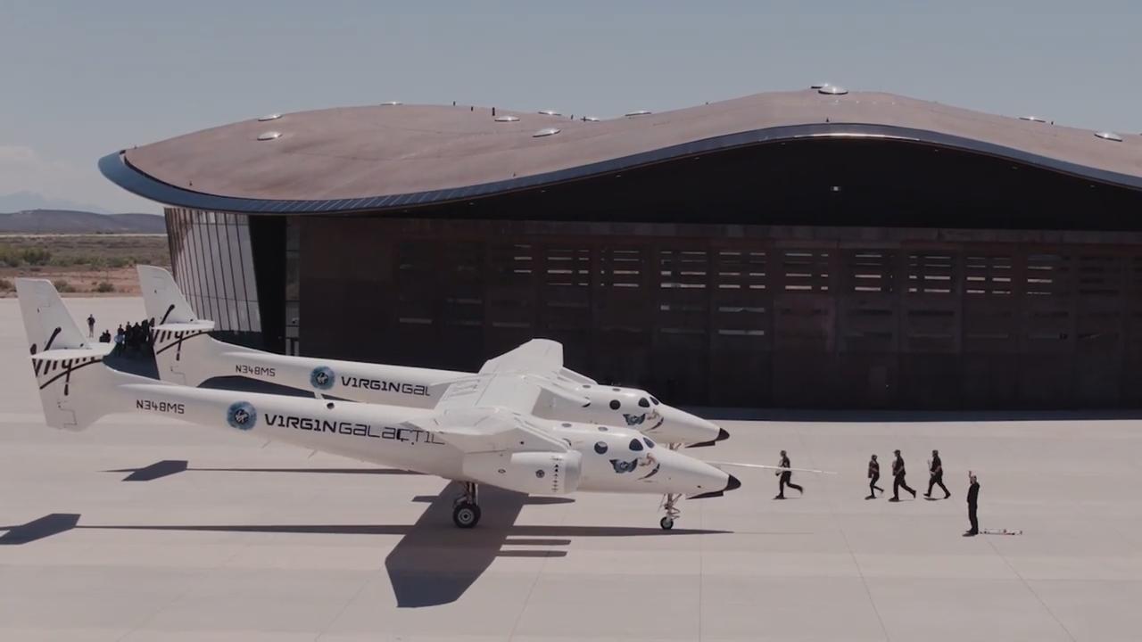 Virgin Galactic toont eerste ruimtehaven ter wereld in VS