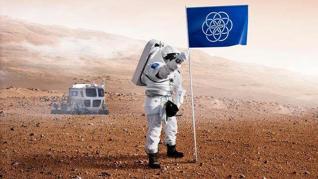 Zweed ontwerpt vlag voor planeet aarde