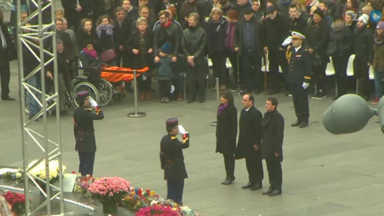 Parijs herdenkt terreurslachtoffers