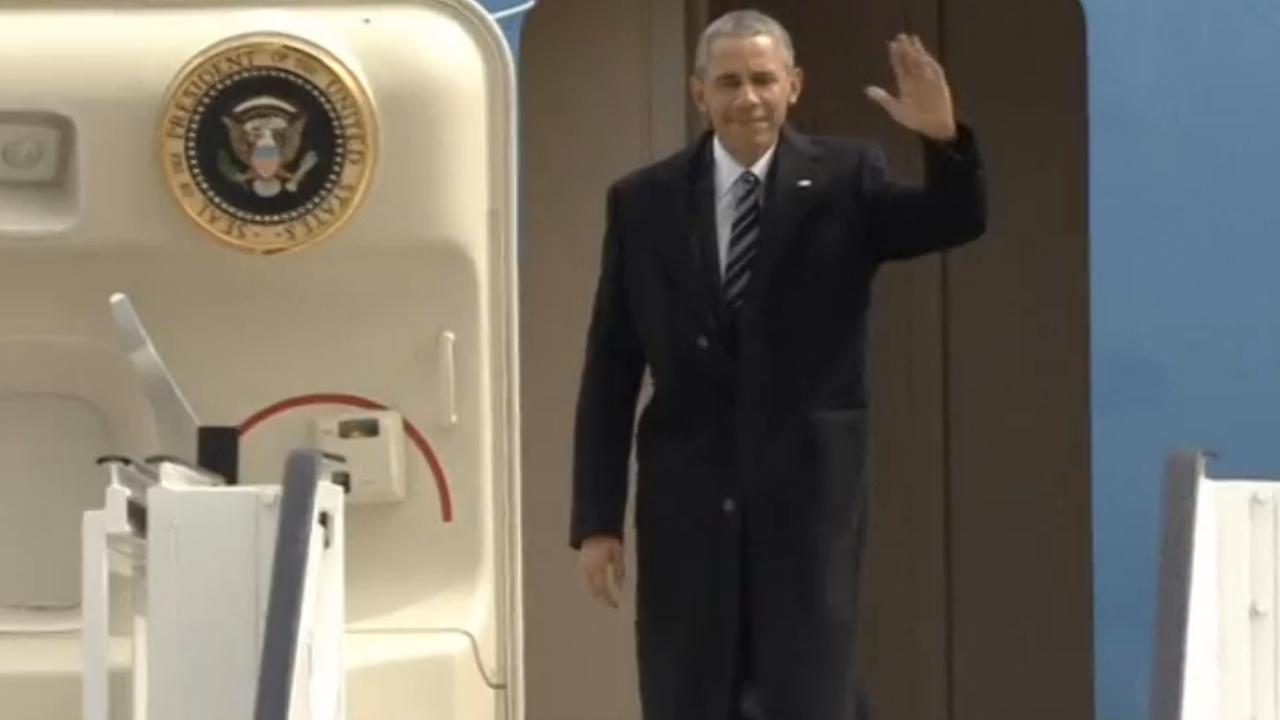 Obama komt aan in Hannover