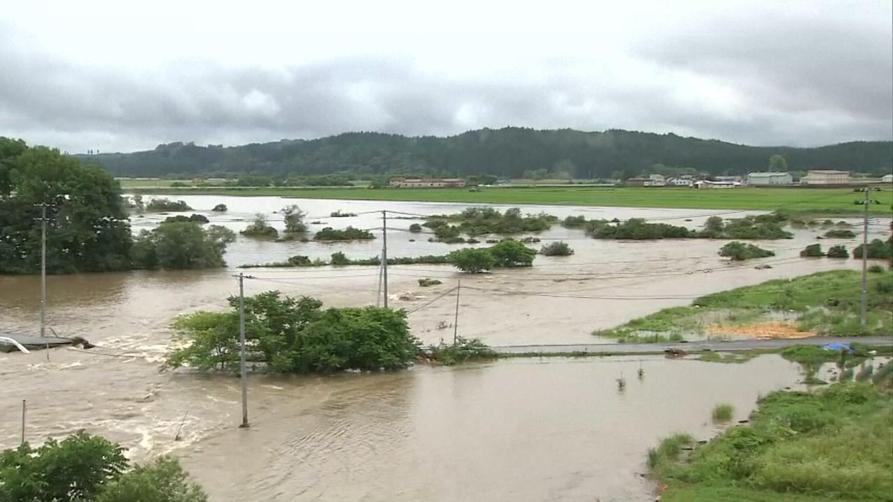 Japan kampt met overstromingen door hevige regenval