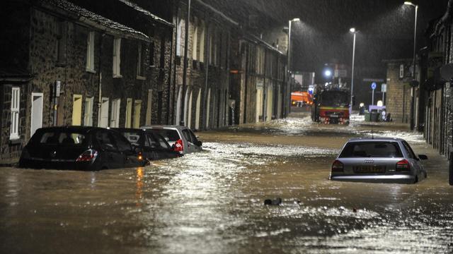 Overlast door overstromingen in Groot-Brittannië
