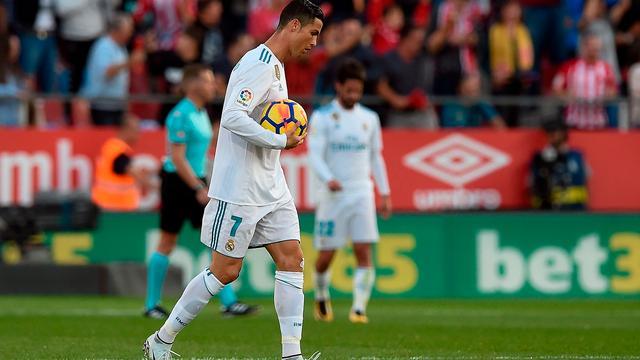 Real Madrid acht punten achter op Barcelona na nederlaag bij Girona