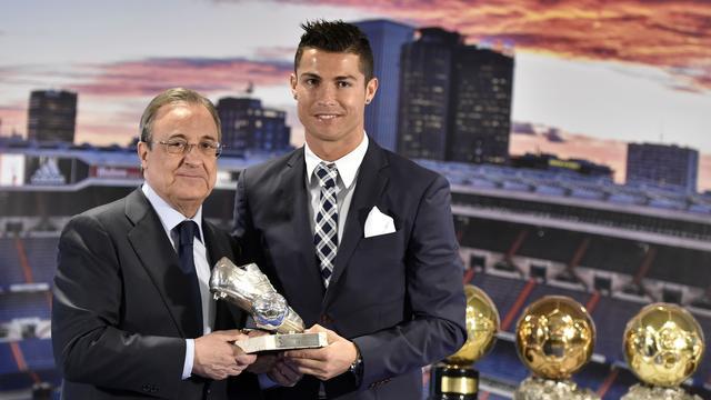 Fotoserie: Real Madrid eert topscorer Cristiano Ronaldo