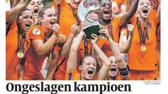 Kranten lovend over Nederlands vrouwenelftal
