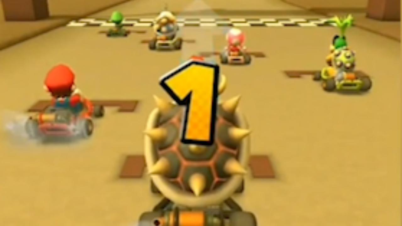 Zo ziet de smartphoneversie van Mario Kart eruit