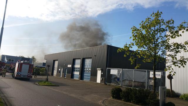 Brand in bedrijfsverzamelgebouw Heerjansdam