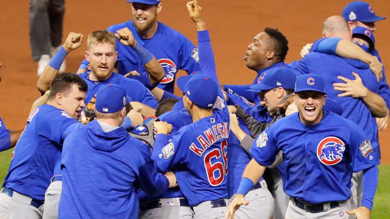 Honkballers Chicago Cubs winnen na 108 jaar World Series