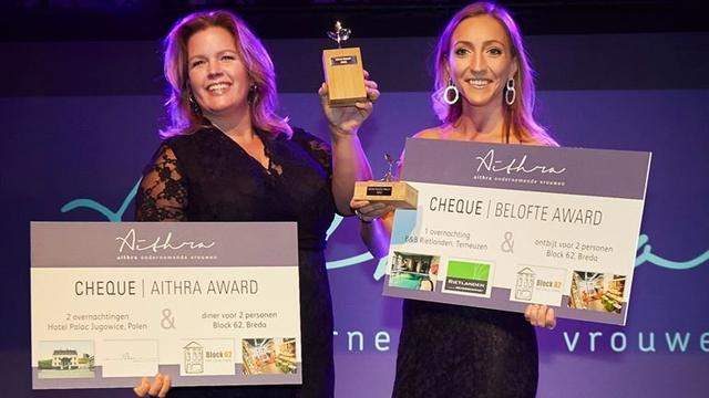 Esther Goos en Vicky van Kuijk winnaars Aithra Awards