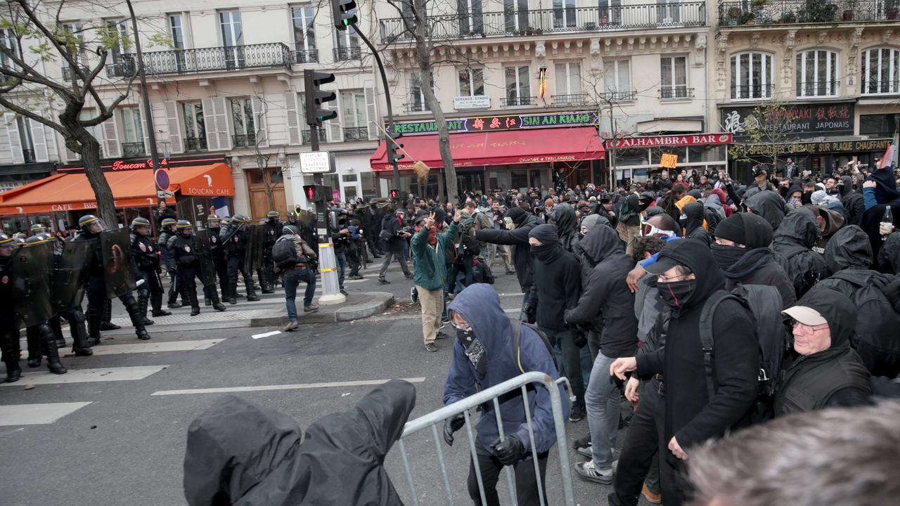 Demonstranten slaags met Franse politie