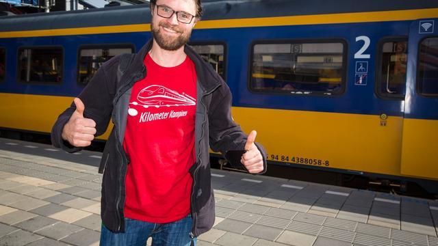 Man legt op een dag 1593 kilometers per trein in Nederland af