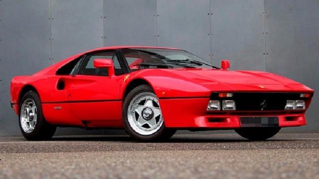 De kort gestolen Ferrari 288 GTO uit 1985