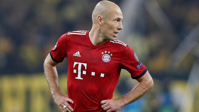Robben ontbreekt definitief bij Bayern München in CL-duel met Ajax