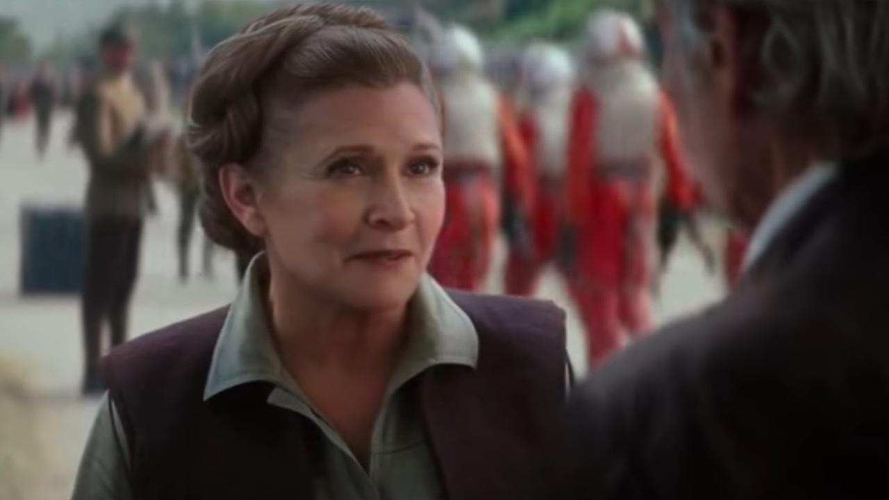 Star Wars-actrice Carrie Fisher in The Force Awakens